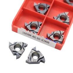10 sztuk wkładki z węglika 16ERM AG60 IC908 płyta CNC gwintowane ostrze tokarka narzędzia tokarskie