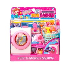 Simulation Cleaning Washing Machine Toys Children Housekeeping Toys Pretend Play Toy for Kids Laundry Dollhouse Tools