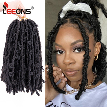 Leeons New Synthetic Hair Butterfly Locs Soft Faux Locs Crochet Hair Faux Locs Crochet Braids Butterfly Bob Locs Natural Soft