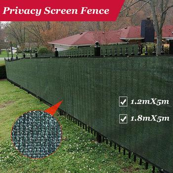 Fence Privacy Screen Outdoor Backyard Fencing Windscreen Shade Cover Mesh Fabric Privacy Barrier Balcony Privacy Shield-Green