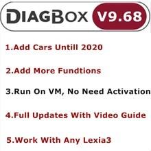 Diagbox V9.68 V8.55 V7.83フルアップデートLexia3 PP2000 Lexia 3 diagbox 9.68シトロエン/peogeotまで車診断ツール2020