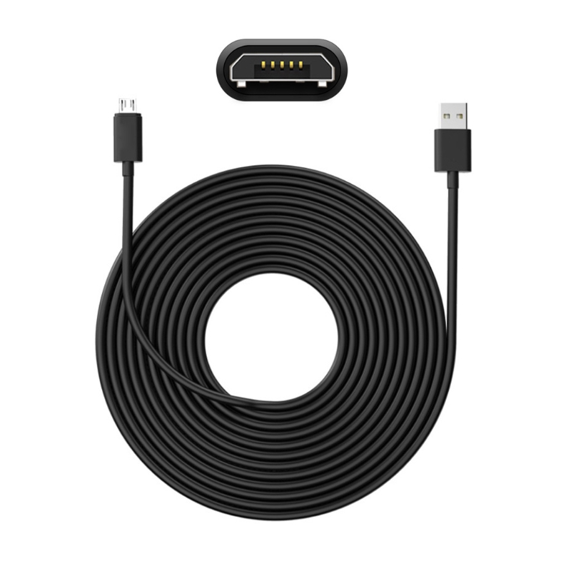 2020 5m Micro USB Charger Cable Charging Wire Cord for Hua-Wei Xiao-Mi Mobile Phone Cellphone Tablet PC Power Bank DVR Camera