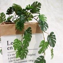 Decoração artificial videira delicada folha de hera artificial garland planta videira falso folhagem festa de casamento decoração de casa