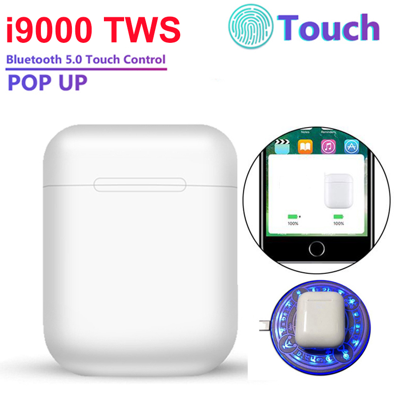 New I9000 TWS 2019 Pop Up Bluetooth 5.0 Headset Touch Control Wireless Earphone Earbuds Ear Buds PK I2000 I5000 I10000 I1000 TWS