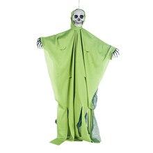80*50cm Skull Halloween Hanging Ghost Haunted House Grim Reaper Horror Props Home Door Bar Club Decorations