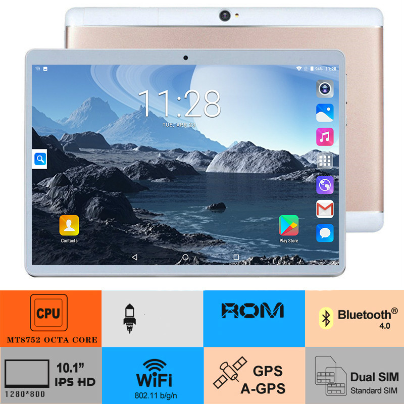 2020 New 10.1 Inch Tablets 6GB+128GB Memory WiFi Tablet PC Support Dual SIM Card Tablet With 4G Phone Call Tablet 10 Core