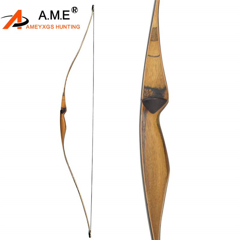 54 Inch Archery Recurve Bow Traditional Handmade Longbow Recurve Bow Sports Arch 10-35 lbs Wooden RH Hunting Shooting