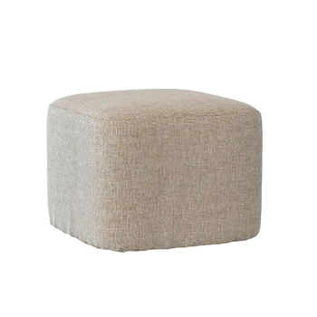 Footstool ottoman COVER square furniture linen cotton stool cushion sleeve decor, 1piece image