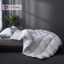 Liv-Esthete High Grade 100% Silk White Comforters Filled Duvets Bedding Double Queen King Duvet Hand work Quilts
