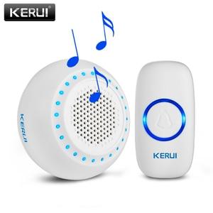 Image 5 - KERUI M523 אלחוטי חכם פעמון ערכת אבטחת בית עמיד למים דלת כפתור צבעוני LED שוכנו פעמוני פעמון 433MHZ כפתור
