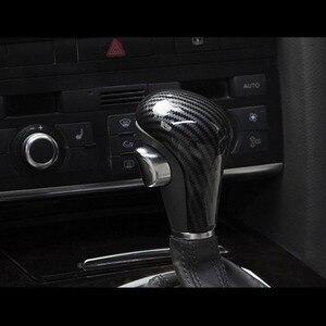Image 5 - 자동차 스타일링 콘솔 기어 쉬프트 핸들 헤드 프레임 커버 아우디 A4 B8 B9 A5 A6 A7 Q7 Q5 용 탄소 섬유 스티커 인테리어 액세서리