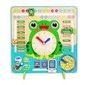 Деревянный Календарь образование погода сезон игрушечные часы обучения
