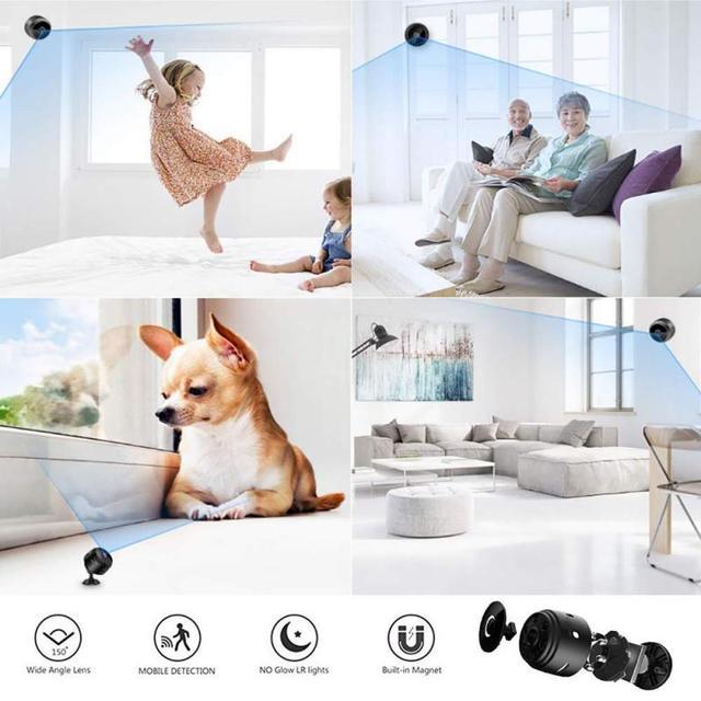 1080P HD IP Mini Camera Wireless Recorder Wifi Security Remote Control Surveillance Night Vision Motion Mobile Detection Camera 4