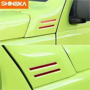 Image 2 - SHINEKA Carbon Fiber Sticker Car A pillar Corner Decorative Cover for Suzuki Jimny 2019 2020 Aluminum Alloy Exterior Accessories