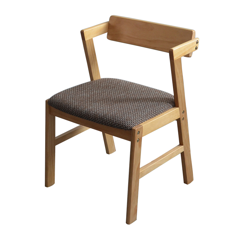 Solid Wood Nordic Chair Backrest Dining Chair Fabric Coffee Shop Single Modern Minimalist Casual Office To Discuss Desk Chair