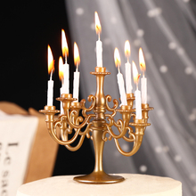 Candle-Holders Candlestick-Set Cake-Top-Decoration Plastic Birthday-Party Heymamba