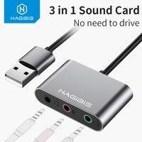 Hagides внешняя звуковая карта конвертер сплиттер USB адаптер 3 порта конвертер наушники микрофон для ПК ноутбук аудио адаптер