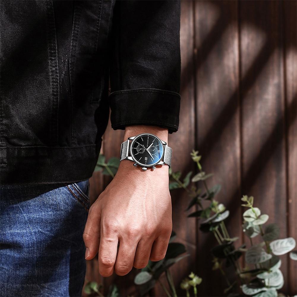Novo relógio de moda crrju para homens