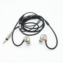 RHAT20 المزدوج وحدة سماعة مرحبا الدقة الديناميكي Hifi في الأذن المعادن عزل الضوضاء سماعة الأذن سماعة أذن خطافية