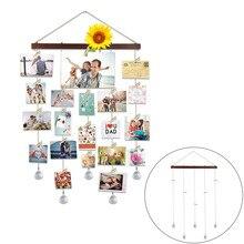 Clips de foto colgante DIY para el hogar, cadena de fotos, Collage, marco de fotos, Collage, almacenamiento de fotos, estante decorativo, soporte de fotos # N
