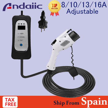 Portable Home Use EV Charger Type 1 16A 13A 10A 8A Adjustable SAE J1772 Electrica Car use