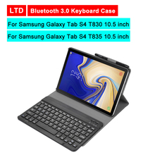 Bluetooth 3.0 Tablet Keyboard Case For Samsung Galaxy Tab S4 T830 T835 10.5 inch Mediapad Flip Leather Stand Protective Cover