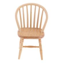 1/12 макеты кукольного домика мебель деревянные DIY мини модель стула украшения