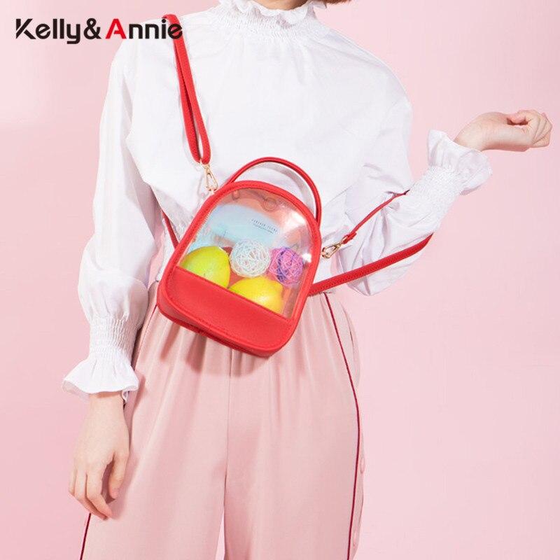 Brand Laser Shine Clear Summer Women Backpacks Multifunction Small Shoulder Bag Ladies Transparent Mochila Backpack Female