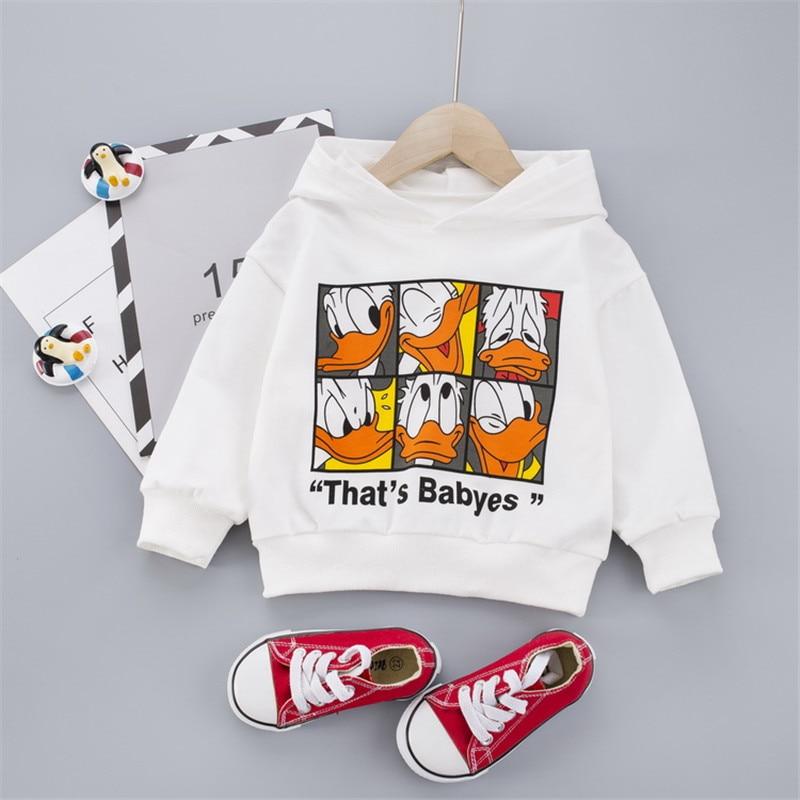 Fashion Spring autumn CARTOON Print Sweater Toddler Boys Girls Sweatshirt Casual Hoodies Baby Long Sleeve Hooded Children Cloth