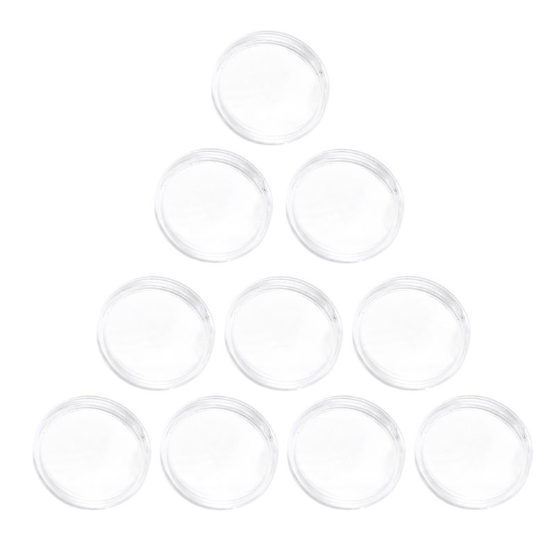 10 Pc 25mm NTAG215 Coin Holder Capsules Box Storage Clear Round Display Cases High Quality Coin Holders Acrylic Material