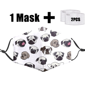 Cartoon Funny Dog Hip Hop Mask Dust Anti Mask Bacteria Proof Flu Mouth-Muffle PM2.5 Filter Reusable Protective 3D Mask Face