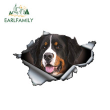 EARLFAMILY 13 см x 8,6 см азавак стикер на машину с собакой рваные металлическая наклейка светоотражающие наклейки Водонепроницаемый стайлинга авт...