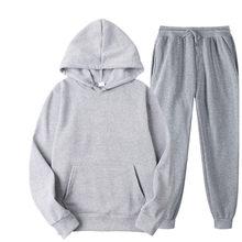 Trainingsanzug Männer Mode Hoodies Männer Anzüge Solide Sets Männer Sweatshirts + Jogginghose Frühling Herbst Fleece Mit Kapuze