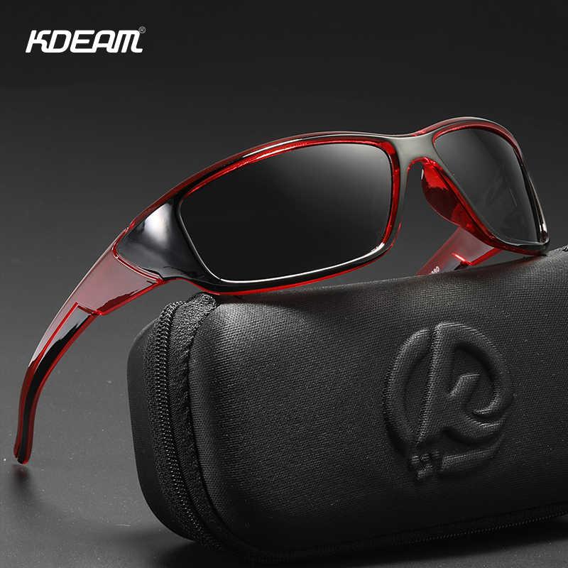 KDEAM Life спортивные солнцезащитные очки поляризационные и защита UV400 Мужские Солнцезащитные очки для вождения рыбалки и катания на лодках cat3