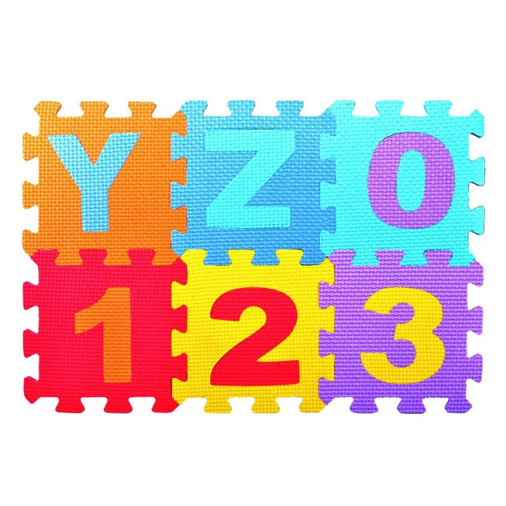 36 Pcs/set EVA Foam Baby Play Mat Stitching Crawling Rug Kid Letter Mat Assembled Animal Carpet Puzzle Pad For Children Games