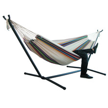 2020 New Double Hammock Hanging Chair Large Hammock With Steel Stand For Garden Courtyard Indoors /without Shelf