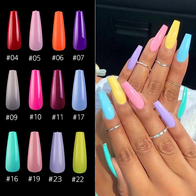 Lamemoria 20pcs/opp ballerina fake nails colorful delicate safe