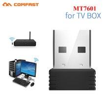 Mini Adapter USB Wifi 802.11b/n antena 150 mb/s USB bezprzewodowy odbiornik Dongle MT7601 karta sieciowa Laptop TV, pudełko Wi Fi Dongle