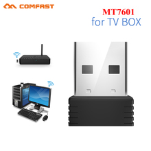 Mini adaptador Wifi USB 802.11b/gn antena 150Mbps receptor inalámbrico USB Dongle MT7601 tarjeta de red portátil TV BOX Wi Fi Dongle