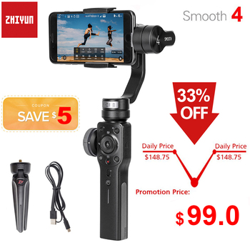 Zhiyun Smooth 4 Q2 3-Axis Handheld Smartphone Gimbal Stabilizer for iPhone 11 Pro Max XS XR X 8P 8 Samsung S9 S8 & Action Camera fy feiyutech vimble 2 feiyu vimble2 handheld 3 axis extendable gimbal stabilizer for iphone 6 7 x vs zhiyun smooth q
