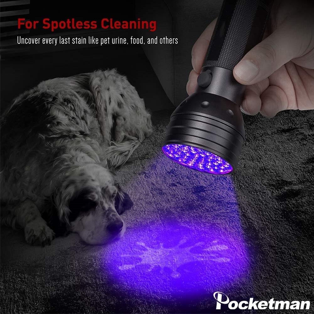 Powerful UV Flashlight Black Light UV Light 51LED 21LED 12LED UV Light 395-400nm LED UV Torch Light Lamp Safety UV Detection