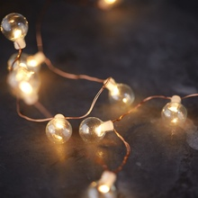 Christmas New LED Copper Wire Light  Ball Bulb String Lights Wedding Holiday Room Decoration Lamps Partyn