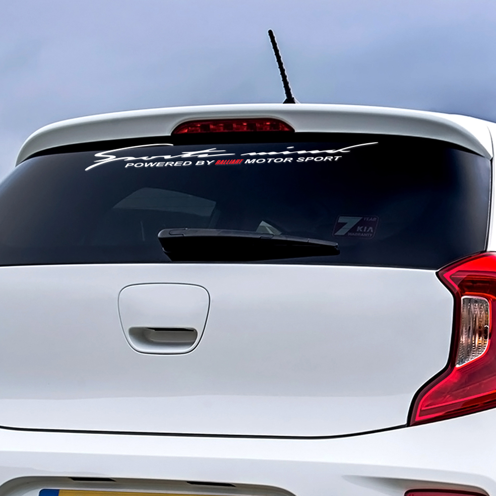 Car Front Rear Windshield Stickers For Mitsubishi Ralliart Outlander 3 Lancer 10 3 9