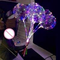 50 pcs branco conduziu a luz do balão de Hélio decorações do partido balões de aniversário dos miúdos Decoração Fontes do casamento 20 polegada ballon