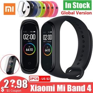 Image 1 - Смарт браслет Xiaomi Mi Band 4 Band 4, глобальная версия, цветной экран 3, пульсометр, фитнес музыка, водонепроницаемость 50 м, Bluetooth