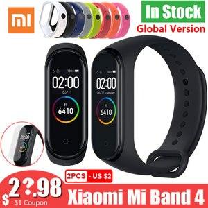Image 1 - 새로운 글로벌 버전 샤오미 mi Band 4 Band4 Smart mi band 3 컬러 스크린 팔찌 심박수 피트니스 음악 50M 방수 블루투스