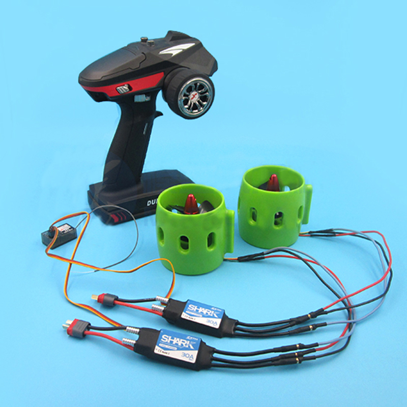 1Set RC Brushless Motor Underwater Thruster+30A/50A ESC+Remote Controller Kit for Fishing Bait Boat/Tug Boat/ROV Model Parts