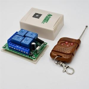 Image 2 - 433 Mhz האלחוטי אוניברסלי מתג DC12V 4CH ממסר מקלט מודול עם 4 ערוץ RF מרחוק 433 Mhz משדר