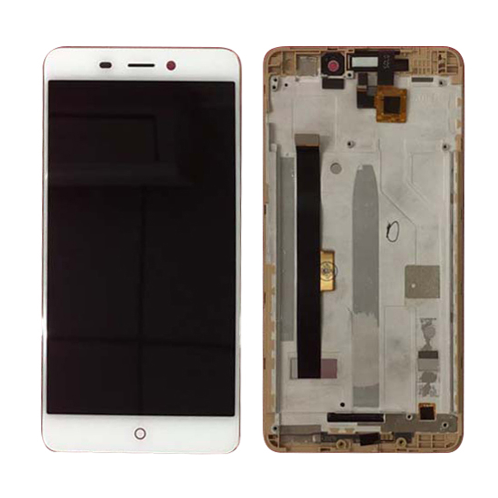 WIth Frame Lcd 5.0'' For ZTE Nubia N1 NX541J  Digitizer Touch Screen 1920x1080 Lcd Display Assembly Repair Part Black Color