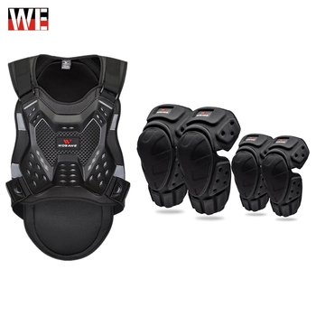 Motocross Jacket chest back Protector Moto Knee Guard Adult Racing Body Protector Armor Vest Motorcycle Protective Gear KneePads wosawe motorcycle jacket motocross body armor chest back moto protective gear shorts pants knee protector gloves guard knee pads